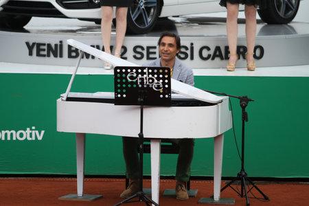 paribas: ISTANBUL, TURKEY - MAY 03, 2015: Enbe Orkestrasi concert before final match of TEB BNP Paribas Istanbul Open 2015 Editorial