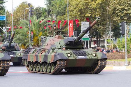 29: ISTANBUL, TURKEY - OCTOBER 29, 2014: Tank in Vatan Avenue during 29 October Republic Day celebration of Turkey