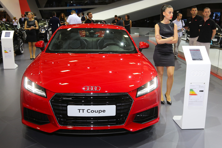 autoshow: ISTANBUL, TURKEY - MAY 21, 2015: Audi TT Coupe in Istanbul Autoshow 2015