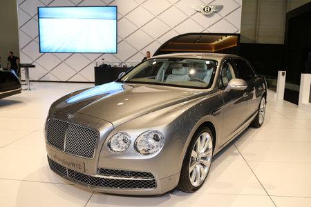 autoshow: ISTANBUL, TURKEY - MAY 21, 2015: Bentley Flying Spur W12 in Istanbul Autoshow 2015
