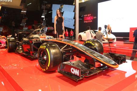 autoshow: ISTANBUL, TURKEY - MAY 21, 2015: McLaren Honda F1 car in Honda Stand in Istanbul Autoshow 2015 Editorial