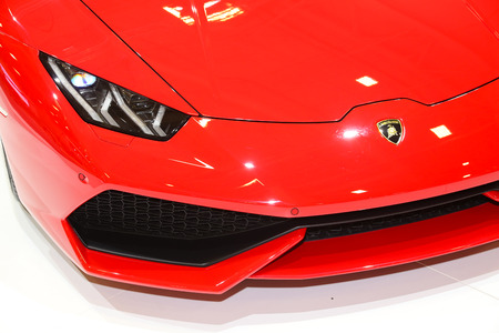 autoshow: ISTANBUL, TURKEY - MAY 21, 2015: Lamborghini Huracan LP 610-4 in Istanbul Autoshow 2015