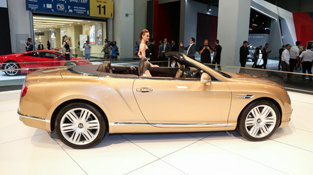 autoshow: ISTANBUL, TURKEY - MAY 21, 2015: Bentley New Continental GT Convertible in Istanbul Autoshow 2015