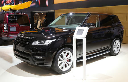 autoshow: ISTANBUL, TURKEY - MAY 21, 2015: Land Rover Range Rover Sport in Istanbul Autoshow 2015