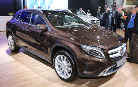 autoshow: ISTANBUL, TURKEY - MAY 21, 2015: Mercedes Benz GLA Class car in Istanbul Autoshow 2015 Editorial