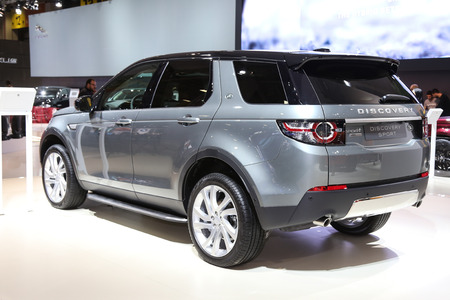 autoshow: ISTANBUL, TURKEY - MAY 21, 2015: Land Rover Discovery Sport in Istanbul Autoshow 2015 Editorial