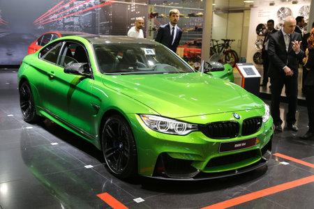 autoshow: ISTANBUL, TURKEY - MAY 21, 2015: BMW M4 in Istanbul Autoshow 2015