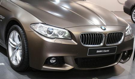 autoshow: ISTANBUL, TURKEY - MAY 21, 2015: BMW 5 Series in Istanbul Autoshow 2015