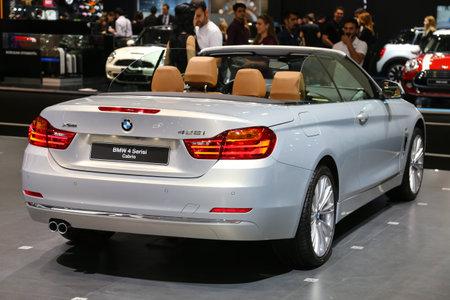 autoshow: ISTANBUL, TURKEY - MAY 21, 2015: BMW 4 Series Cabrio in Istanbul Autoshow 2015