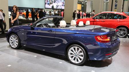 autoshow: ISTANBUL, TURKEY - MAY 21, 2015: BMW 2 Series Cabrio in Istanbul Autoshow 2015