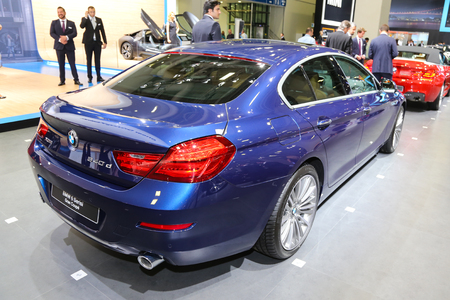 coupe: ISTANBUL, TURKEY - MAY 21, 2015: BMW 640 d Gran Coupe in Istanbul Autoshow 2015 Editorial