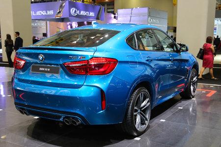 autoshow: ISTANBUL, TURKEY - MAY 21, 2015: BMW X6 M in Istanbul Autoshow 2015 Editorial