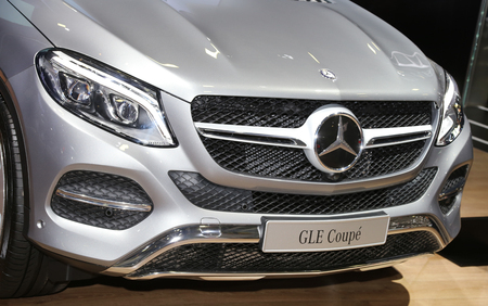 autoshow: ISTANBUL, TURKEY - MAY 21, 2015: Mercedes Benz GLE Coupe in Istanbul Autoshow 2015