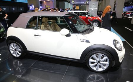 autoshow: ISTANBUL, TURKEY - MAY 21, 2015: Mini Cooper Convertible in Istanbul Autoshow 2015