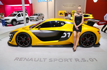 autoshow: ISTANBUL, TURKEY - MAY 21, 2015: Renault Sport RS1 in Istanbul Autoshow 2015 Editorial