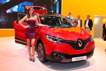 autoshow: ISTANBUL, TURKEY - MAY 21, 2015: Renault Kadjar in Istanbul Autoshow 2015 Editorial