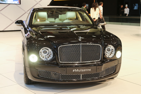 autoshow: ISTANBUL, TURKEY - MAY 21, 2015: Bentley Mulsanne in Istanbul Autoshow 2015 Editorial