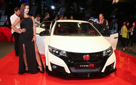 autoshow: ISTANBUL, TURKEY - MAY 21, 2015: Honda Type R in Istanbul Autoshow 2015