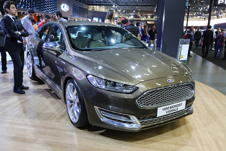 autoshow: ISTANBUL, TURKEY - MAY 21, 2015: Ford Mondeo Vignale in Istanbul Autoshow 2015