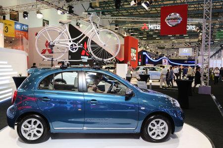 autoshow: ISTANBUL, TURKEY - MAY 21, 2015: Nissan Micra in Istanbul Autoshow 2015