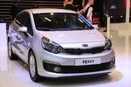 autoshow: ISTANBUL, TURKEY - MAY 21, 2015: Kia Rio in Istanbul Autoshow 2015