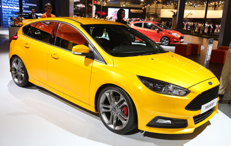 autoshow: ISTANBUL, TURKEY - MAY 21, 2015: Ford Focus ST in Istanbul Autoshow 2015