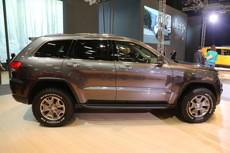 cherokee: ISTANBUL, TURKEY - MAY 21, 2015: Jeep Grand Cherokee in Istanbul Autoshow 2015 Editorial