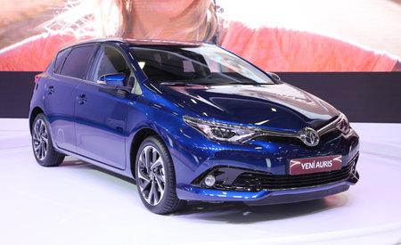 autoshow: ISTANBUL, TURKEY - MAY 21, 2015: Toyota Auris in Istanbul Autoshow 2015