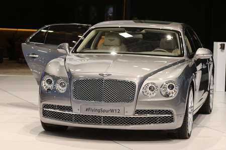 autoshow: ISTANBUL, TURKEY - MAY 21, 2015: Bentley Flying Spur W12 in Istanbul Autoshow 2015