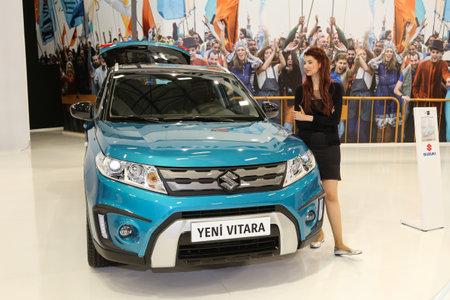 sport utility vehicle: ISTANBUL, TURKEY - MAY 30, 2015: Suzuki Vitara in Istanbul Autoshow 2015
