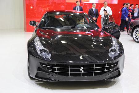 autoshow: ISTANBUL, TURKEY - MAY 21, 2015: Ferrari FF in Istanbul Autoshow 2015