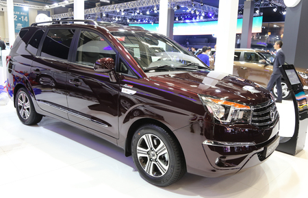 autoshow: ISTANBUL, TURKEY - MAY 21, 2015: SsangYong Rodius in Istanbul Autoshow 2015 Editorial