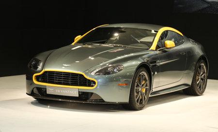 ISTANBUL, TURKEY - MAY 30, 2015: Aston Martin V8 Vantage in Istanbul Autoshow 2015 Editorial