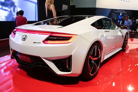 autoshow: ISTANBUL, TURKEY - MAY 21, 2015: Honda NSX Concept car in Istanbul Autoshow 2015