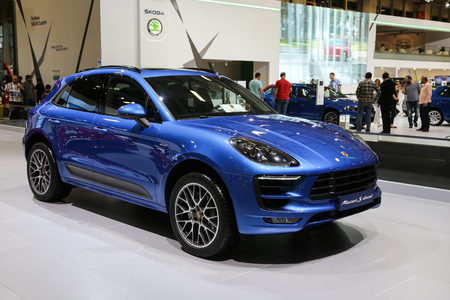30 s: ISTANBUL, TURKEY - MAY 30, 2015: Porsche Macan S Diesel in Istanbul Autoshow 2015 Editorial