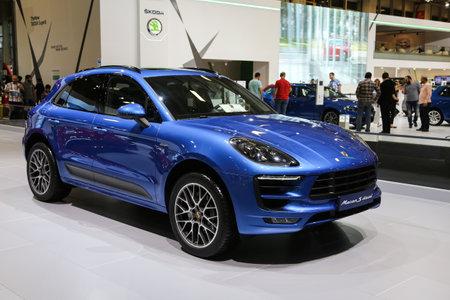 autoshow: ISTANBUL, TURKEY - MAY 30, 2015: Porsche Macan S Diesel in Istanbul Autoshow 2015 Editorial