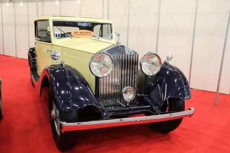 autoshow: ISTANBUL, TURKEY - MAY 21, 2015: 1934 Rolls-Royce 2025 Freestone and Webb Coupe in Istanbul Autoshow 2015