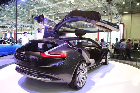 autoshow: ISTANBUL, TURKEY - MAY 21, 2015: Opel Monza Concept in Istanbul Autoshow 2015 Editorial