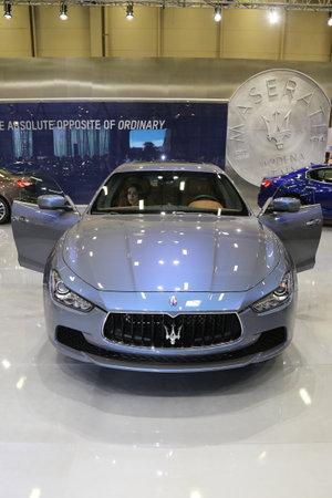 autoshow: ISTANBUL, TURKEY - MAY 30, 2015: Maserati Ghibli Ermenegildo Zegna Edition in Istanbul Autoshow 2015