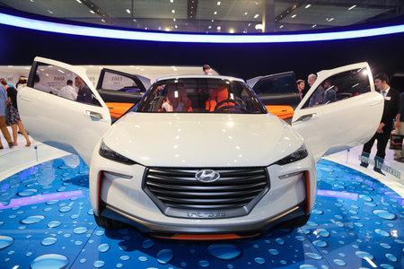 autoshow: ISTANBUL, TURKEY - MAY 30, 2015: Hyundai Intrado concept in Istanbul Autoshow 2015 Editorial