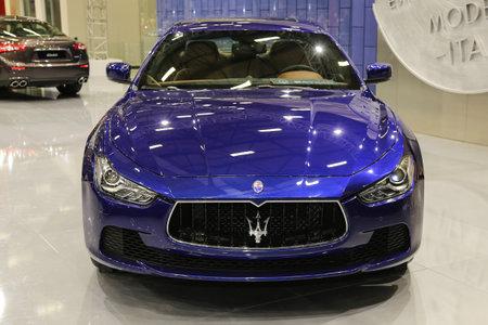 autoshow: ISTANBUL, TURKEY - MAY 30, 2015: Maserati Ghibli in Istanbul Autoshow 2015