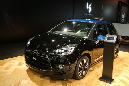 autoshow: ISTANBUL, TURKEY - MAY 30, 2015: Citroen DS3 in Istanbul Autoshow 2015