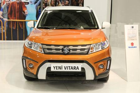 autoshow: ISTANBUL, TURKEY - MAY 30, 2015: Suzuki Vitara in Istanbul Autoshow 2015