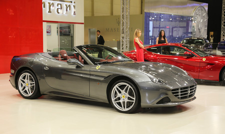 autoshow: ISTANBUL, TURKEY - MAY 30, 2015: Ferrari California T in Istanbul Autoshow 2015