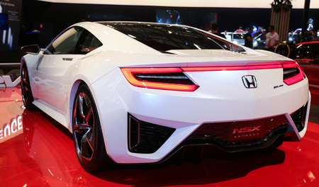 autoshow: ISTANBUL, TURKEY - MAY 30, 2015: Honda NSX Concept car in Istanbul Autoshow 2015 Editorial