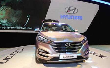 autoshow: ISTANBUL, TURKEY - MAY 30, 2015: Hyundai Tucson in Istanbul Autoshow 2015