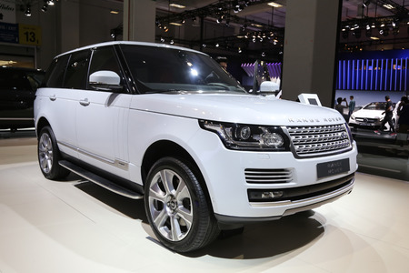 autoshow: ISTANBUL, TURKEY - MAY 30, 2015: Land Rover Range Rover in Istanbul Autoshow 2015