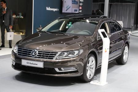 cc: ISTANBUL, TURKEY - MAY 30, 2015: Volkswagen Passat CC Exclusive in Istanbul Autoshow 2015