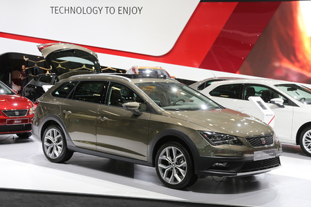 ISTANBUL, TURKEY - MAY 30, 2015: SEAT Leon X-Perience in Istanbul Autoshow 2015