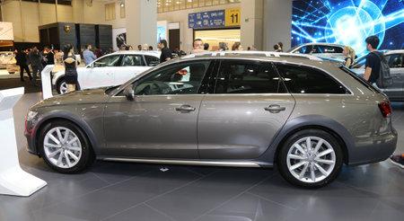 autoshow: ISTANBUL, TURKEY - MAY 21, 2015: An Audi in Istanbul Autoshow 2015